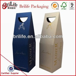 High quality Factory Cardboard 6 bottle wine box in China
