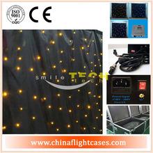 led flexible curtain display,fireproof velvet led star curtain/crushed velvet curtains