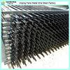 Powder coating 2.4m length wrought iron tubular fence wholesaler