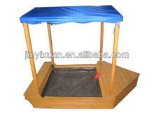 Wooden Garden Sailer Boat Sandbox / Kids Sandpit with Canopy