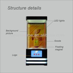 Smart magnetic floating dispaly,2014 latest intelligent Magnetic levitation case