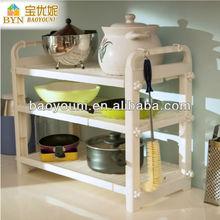 BAOYOUNI standing pot rack kitchen plate rack dinnerware racks