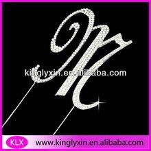 12CM Wedding Monogram Crystal Rhinestone Cake Topper ,Rhinestone letter/alphabet LX-EM-1