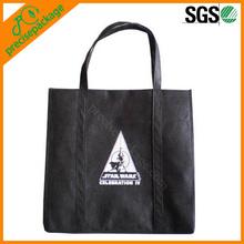 Eco-friendly recycle silk printing non woven shopping bag