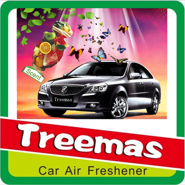2015 promotion gift advertising hanging paper car air freshener J194