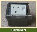 Supporto del pavimento scatole elettriche con rj11/telefono e rj45/dati