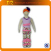 New boutique outfits sets child clothing set with hats,ruffle pants and necklace kids clothing wholesale
