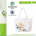 2013 mão- pintado peônia saco de lona, sacos de mão para as mulheres/bolsas bolsas das mulheres