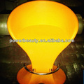 Iluminado banqueta plastic led brilhante amarelo abs banqueta