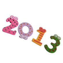 X mas Gift Set 10 Number Wooden Souvenir Fridge Magnet Education Learn Cute Kid Baby Toy 3D Fridge Magnet