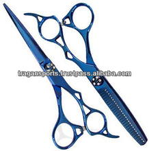 Barber And Thinning Scissors Blue Color