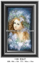 """Fashionable crystal painting ,canvas painting""""Beautiful faery"""""""
