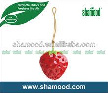 2014 New Gel Scented Strawberry Air Deodorizer Hanging Car Air Freshener