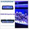 White Blue Coral Reef Fish Tank 120W programmable bridgelux led aquarium light fixture