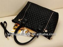 2014 Handbags fashion shoulder bags handbag women tote bag Rivet Studded Package Stitching Flannel Bag