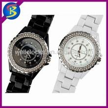 Hot sale,newest design,brand crystal couple wrist watch