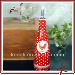 ceramic olive oil cruet with decoration