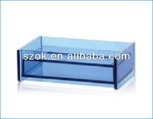 Plexiglass colorato/acrilico scatola del tessuto copertura wholesale