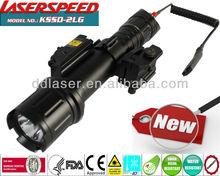 zero adjustable green tactical laser and led flashlight illuminator