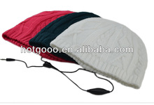 cable knit earflap hat with audio headphone for 2013 Christmas gift