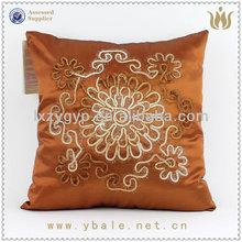 Pretty handmade design gold colour cushion cover fashion