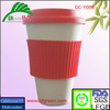 16oz eco-friendly and biodegradable bamboo coffee cup with lid and sleeve