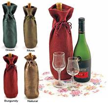 Hot Selling Linen Wine Bag