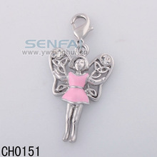 Chain Wholesale Beautiful Girl Charm For Bracelet