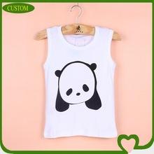 100%cotton plain white printing tank top