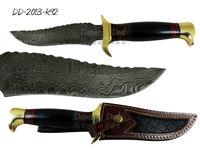 Damascus Steel Knife DD-2013-K92 Brass Guard and Pommel