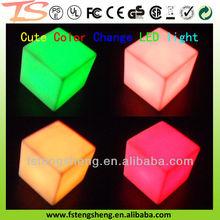 China novelty soft PVC RGB color changing decorative led cube night light W/CE EN71