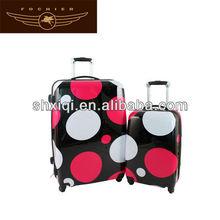 custom 2014 abs polka dot luggage wholesale