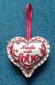 ( xd- 05a) 2014 bordado de moda de navidad sentía decoración de corazón/ornamento