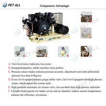 5 gallon pet bottle blow molding machine high pressure air compressor
