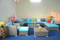 Cheap Arabic blue corner rattan living room sofas
