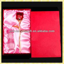Wholesale Imitation Exquisite Happy Valentine Glass Rose For Sale Wedding Bride Engagement Souvenir