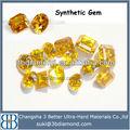 Los nombres de oro de piedras preciosas de color amarillo, diamante synthtic gemas