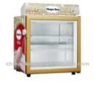 mini countertop freezer for ice cream display with adjustable shelves and glass door,ice cream/Gelato display freezer showcase