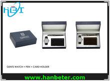 2014 Fashion watch wallet pen sets wholesale for men