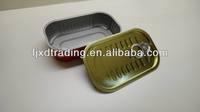 Aluminum/Golden Lacquer Rectangular Tin Easy Open Can Lids/End/Cover