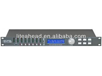 Professional digital loudspeaker management processor based on dual 24bit DSP DLP6 Mk2