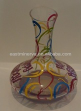 handpainted various design glass decanter or carafe