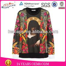 fashionable printed shirt long shirt design/stylish hoodies for men