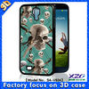 2015 mobile phone accessory for samsung galaxy s4 skull case with 3d image