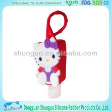 promotional item cute hello kitty liquid soap bottle holder for gift