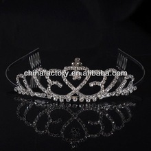 HH2611 Wedding Bridal Bridesmaid Crystal Rhinestone Flower Hair tiara Headband