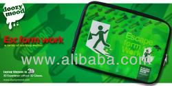 """Hong Kong design brand DOOZYMOOD 3D graphic laptop notebook sleeve case 13"""" 14"""" 15"""" green"""