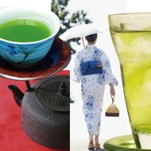 Premium quality various types of green tea japanese drinks