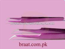whole sale best color pro curve tweezers high quality steel pro curved type eyelash extension tweezers lash tweezers