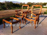 Solid Oak Wood Carved Dinning Room Set